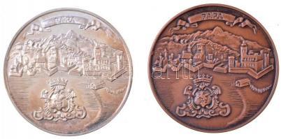 Lantos Györgyi (1953-) 1990. MÉE Pápa / Éremgyűjtők 20. Vándorgyűlése Ag és Br emlékérem pár (36,81g/0.835/42,5mm) T:1,1- (PP) kis patina