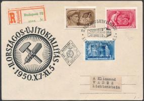 1950 Újítók sor ajánlott FDC-n