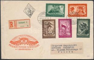 1950 DISZ (I.) sor ajánlott FDC-n
