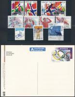 1993-1998 Winter Olympics 11 stamps + 1 PS-card, 1993-1998 Téli Olimpia kis tétel 11 klf bélyeg + 1használatlan díjjegyes képeslap