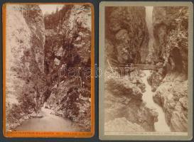 cca 1890 Liechtensteinklamm 2 db fotó 17x12 cm