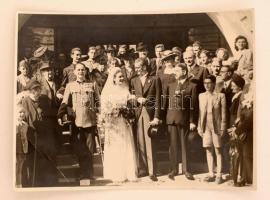 1942 Főhadnagyi esküvő. Hátoldalon nevesítve 24x16 cm