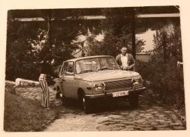 cca 1965 Básti Lajos és Szegedi Erika filmforgatáson készült fotó 18x13 cm