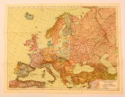cca 1930 Európa és Kisázsia politikai térképe, 1:12.000.000, Magyar Földrajzi Intézet Rt., a hajtásoknál kisebb szakadásokkal, 53x40 cm.