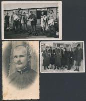 cca 1940 3 db katonai fotó