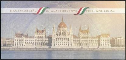 2011 Magyarország új alaptörvénye blokk kristályos változat piros sorszámmal tokban / Mi block 341II. in holder