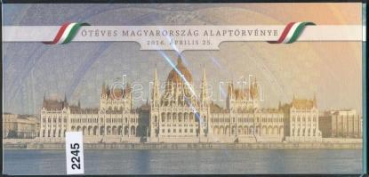 2016 Ötéves Magyarország Alaptörvénye blokk kristályos változat limitált példányszám, díszcsomagolásban
