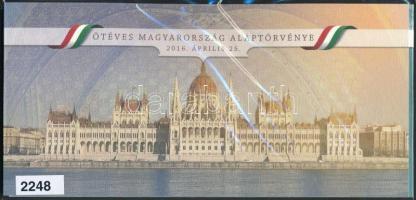 2016 Ötéves Magyarország Alaptörvénye blokk kristályos változat limitált példányszám, díszcsomagolásban / Block 341 II.I. presentation pack