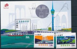 2005 Híd sor Mi 1379-1380 + blokk Mi 131