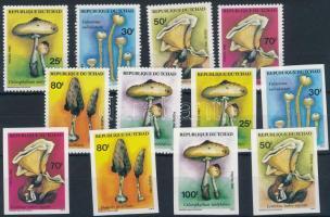 1985 Gomba vágott sor + fogazott sor Mi 1092-1097