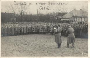 1916 osztrák-magyar katonák esküje az orosz fronton / WWI K. u. K. soldiers, military oath