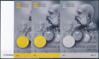 2016 Ferenc József 1848-1916 emlékív 4 db-os garnitúra azonos sorszámmal (001)
