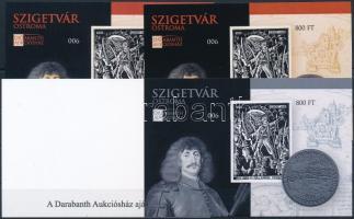 2016 Szigetvár ostroma emlékív 4 db-os garnitúra azonos sorszámmal (003)