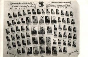 1947 Kistarcsa, Magyar Államrendőrség Budapesti rendőrségének 1. számú kistarcsai tanosztályparancsnokság tanfolyam hallgatói, tablókép, photo