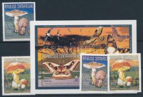 1997 Cserkészet, gomba, pillangó sor 2 vágott és fogazott értéke Mi 1777+1779 A+B + blokk Mi 588 A