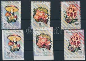 1994 Gomba sor 3 fogazott+vágott értéke Mi 1045+1048+1051