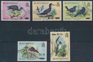 Madár sor felülnyomással Birds overprinted set