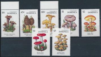 1991 Gomba sor 7 értéke Mi 1394, 1396-1401
