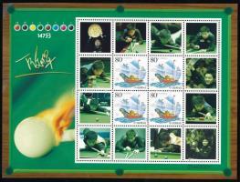 2010 Magán kiadás: Snooker - 2003 Hajó megszemélyesített bélyeg kisív formában Mi 3461 A (törött ívszél / folded margin)