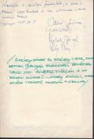 1971 Albert Flórián (1941-2011) aranylabdás válogatott labdarúgó pár soros bejegyzése és aláírása emléklapon
