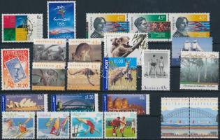 1988-2001 21 stamps + 1 stripe of 3, 1988-2001 21 klf bélyeg + 1 hármascsík