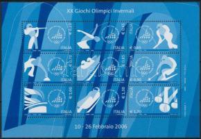 Winter Olympics, Turin mini sheet, Téli olimpia, Turin kisív