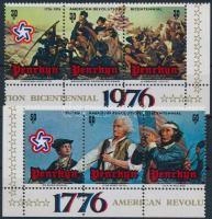 1976 200 éves az amerikai függetlenség sor ívsarki 3-as tömbökben Mi 73-78