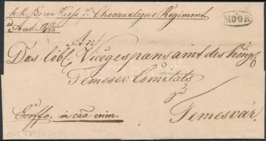 1847 Katonai levél / Military cover MÓOR - Temesvár