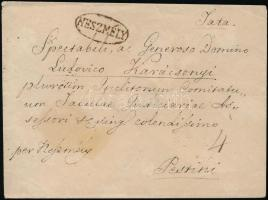 ~1825 Levél / Cover NESZMÉLY - Pestini