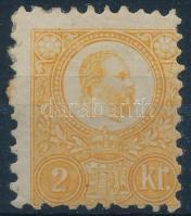 1871 Réznyomat 2kr világos narancs / Mi 8 light orange (betapadás / gum disturbance)
