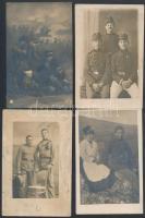 cca 1914-1945 Katonai témájú különféle fotólapok, egy részük feliratozva, különböző méretben, összesen 10 db