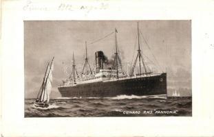 RMS Pannónia tengerjáró hajó, Cunard Line / ocean liner ship (EK)