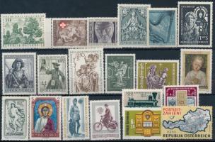 1966-1982 20 diff stamps, 1966-1982 20 klf bélyeg