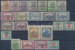 Nyugat-Magyarország V. 1921 Teljes sor + 4 db tévnyomat, garancia nélkül