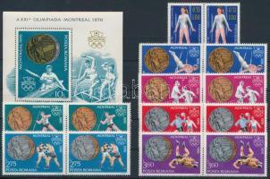 1976 Olimpia párok Mi 3372-3378 + blokk Mi 137