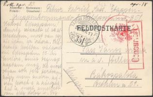 1915 Tábori posta levelezőlap TP 351