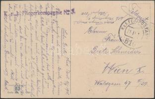 "Austria-Hungary Field postcard ""K.u.k. Fliegerkompagnie No.3."" + ""FP 510"", Tábori posta képeslap ""K.u.k. Fliegerkompagnie No.3."" + ""FP 510"""