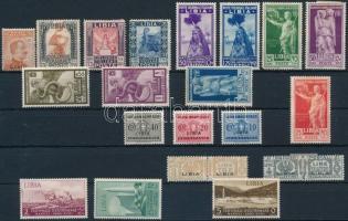 Olasz Líbia 22 db bélyeg (Mi EUR 43,5) (apró hibák, betapadás, rozsda / gum disturbance, stain)