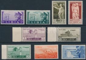 Olasz Líbia 9 db bélyeg (rozsda / stain)