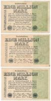 Németország / Weimari Köztársaság 1923. 1.000.000M (5x) T:II-,III Germany / Weimar Republic 1923. 1.000.000 Mark (5x) C:VF,F