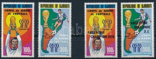 1978 Labdarúgó világbajnokság sor és felülnyomott változat Mi 220-221, 225-226