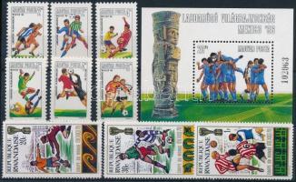 Sport, olimpia, labdarúgás motívum 31 db bélyeg és 7 db blokk 3 stecklapon