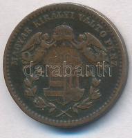 1868KB 1kr Cu Angyalos címer T:2,2- ph.