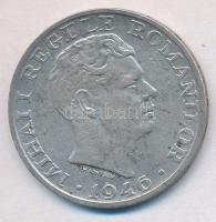 Románia 1946. 25.000L Ag I. Mihály T:2 ph., patina Romania 1946. 25.000 Lei Ag Mihai I C:XF error edge, patina Krause KM#70