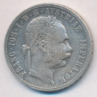 Ausztria 1878. 1Fl Ag Ferenc József T:2- kis patina Austria 1878. 1 Florin Ag Franz Joseph C:VF small patina Krause KM#2222