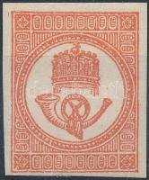 1871 Kőnyomású Hírlapbélyeg eredeti gumival, apró falc (10.000)