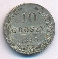 Lengyelország / Kongresszusi Lengyelország 1840MW 10gr Ag (0.1920) T:2 ph., patina Poland / Congress Poland 1840MW 10 Groszy Ag (0.1920) C:XF edge error, patina Krause C#113a