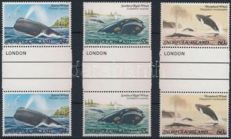 Whale sheetcentered set in pairs, Bálna ívközéprészes sor párban