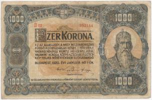 1920. 1000K Orell Füssli Zürich T:III-