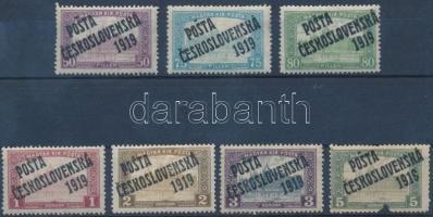 Posta Ceskoslovenska 1919 7 klf Parlament bélyeg Bodor vizsgálójellel (34.320) (5K sérült / damaged)